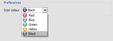 Last.fm kommt mit verschieden farbige Icons.