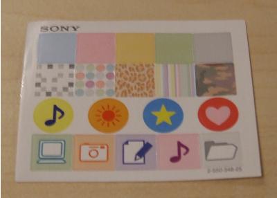 Sticker für Sony MICRO VAULT